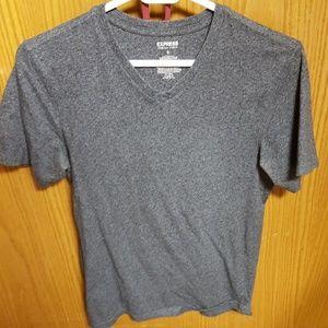 Express grey v-neck
